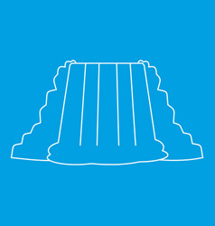Waterfall icon outline style vector