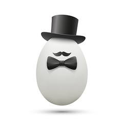 White egg in a hat vector