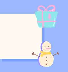 Winter season post template for social media feed vector