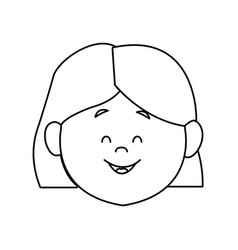 Woman young expression avatar face vector