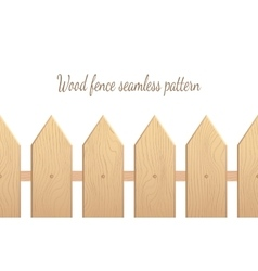 Wood fence seamless pattern vector image