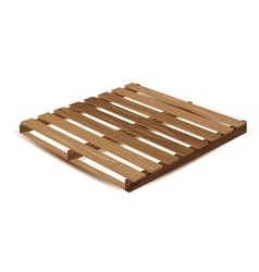 Wooden pallet Wooden pallets to transport and vector