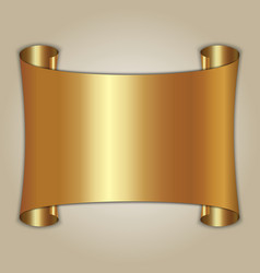 abstract golden plate on beige background vector image