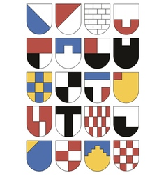 Colorful templates for coats of arms vector image