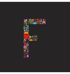 Letter F vector image vector image
