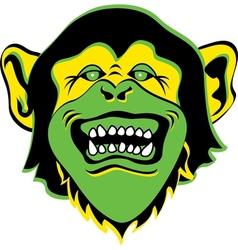 Monkey face logo vector image vector image