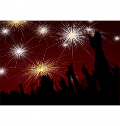 new year fireworks vector image vector image