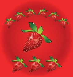 strawberry metal1 vector image