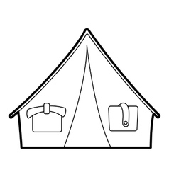 Tent icon outline style vector image vector image
