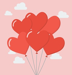 Group of heart balloons vector image vector image