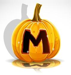 Halloween Pumpkin M vector image vector image
