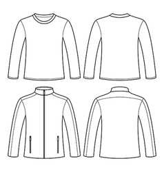 Jacket and Long-sleeved T-shirt vector image vector image