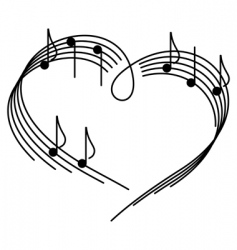 music of love vector image vector image
