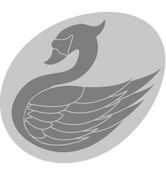 Swan in the egg vector