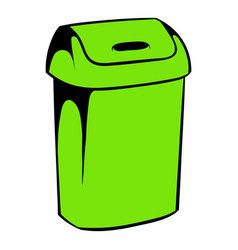 trash can icon icon cartoon vector image