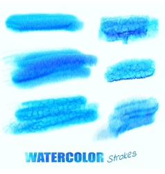 watercolor blue swatches vector image