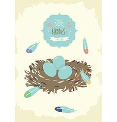 Bird Nest Design vector image vector image