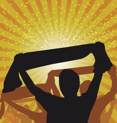 Cheering Crowd vector image
