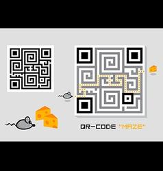 qr-code maze vector image