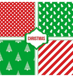 Set collection of christmas seamless patterns vector