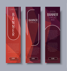 template vertical web banners with abstract brown vector image vector image