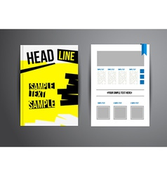 Flyer template vector image