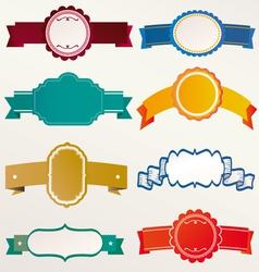 frame labels ribbon Set vintage vector image vector image