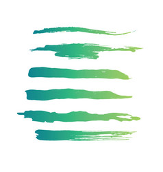 green abstract grunge curly brushes spring vector image