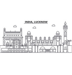 india lucknow architecture line skyline vector image
