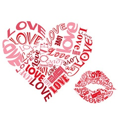 LOVE heartsandkisses vector image vector image