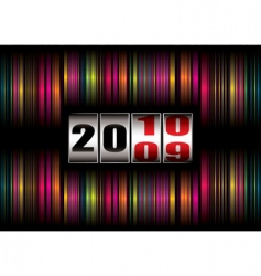 rainbow new year vector image vector image