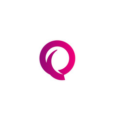 round abstract letter q logo vector image