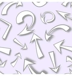 seamless pattern of hand drawn monochrome comics vector image