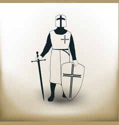 simple knight vector image