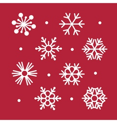 Simple snowflakes collection vector
