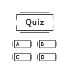 thin line quiz game template vector image vector image