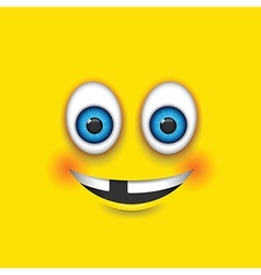 toothless square emoji vector image vector image