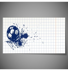 A hand-drawn football ball vector