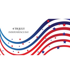 Abstract ribbons flag banner July 4 Independence D vector