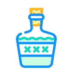 Alcoholic drink bottle color icon vector