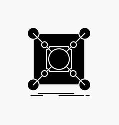 base center connection data hub glyph icon vector image