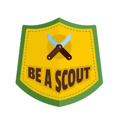 be a scout logo flat style vector image