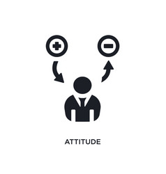 Black attitude isolated icon simple element from vector