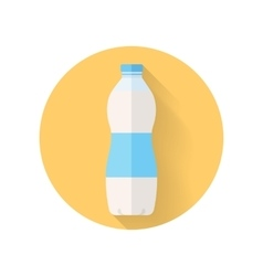 Bottle of Fresh Milk Flat Style vector image