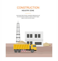 Building factory industry zone construction vector