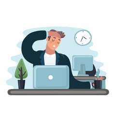 Businessman in stress vector
