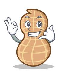 Call me peanut character cartoon style vector