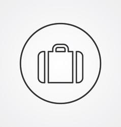 case outline symbol dark on white background logo vector image