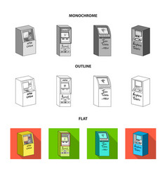 cash machine for cash terminal for payment vector image