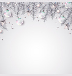 Christmas background with fir branches and vector